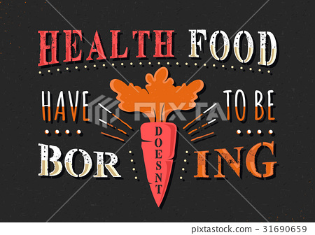 Set of Vintage Food Typographic Quotes 31690659