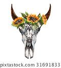 公牛 花朵 花 31691833