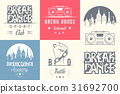 Vector Set of Badges, Logos and Sign Break Dance 31692700