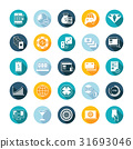 Vector Set Flat Square Icons 31693046