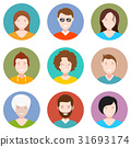 Set of people avatar in style flat design 31693174