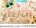 Beach text in the sand 31694989