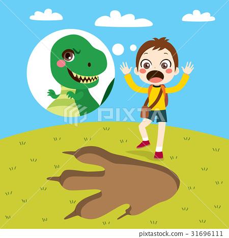 Boy Dinosaur Track 31696111