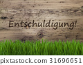 Wooden Background, Gras, Entschuldigung Mean Sorry 31696651