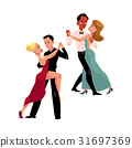 Couples of professional ballroom dancers dancing 31697369