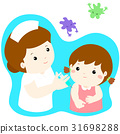 Vaccination child cartoon vector. 31698288