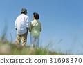 수석 부부 초원과 푸른 하늘 31698370