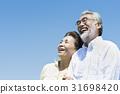수석 부부 초원과 푸른 하늘 31698420