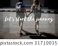 Friends Travel Backpacker Journey with Quote Graphic 31710035