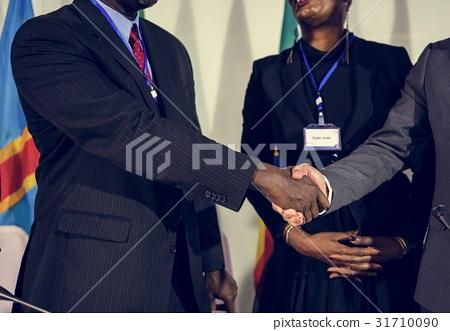 Hands Shake Agreement Diversity Conference Partnership 31710090