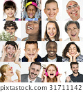 cheerful collage face 31711142