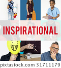 Set of Diverse People Inspirational Ideas Studio Collage 31711179
