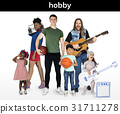 Diversity People with Hobby Music Sport Set Studio Isolated 31711278