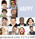 cheerful collage face 31711388