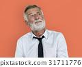 Caucasian Business Man Thinking Concept 31711776