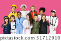 Group of Diverse Kids Wearing Career Costume Studio Portrait 31712910