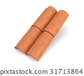 3d rendering of four interlocked terracotta barrel 31713864