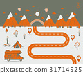 National mountain park camping scene Vector 31714525