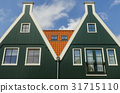 Two Green Houses in Volendam 31715110