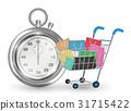 cart, shopping, stopwatch 31715422