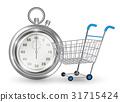 cart, shopping, stopwatch 31715424