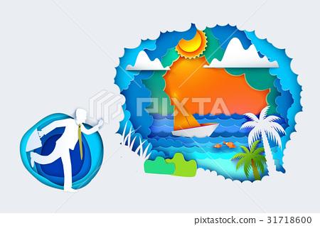 Businessman go to summer holidays 31718600