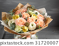 beautiful bouquet made of different flowers in 31720007