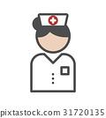 Classic nurse icon with white uniform 31720135