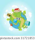 cartoon, planet, earth 31721853