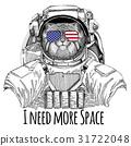 动物 宇航员 草图 31722048