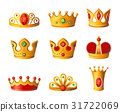 Crowns - realistic vector set of royal headgear 31722069