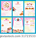 Bakery sweet desserts vector brochure or posters 31723533