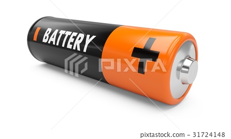 3D Rendering battery on white background 31724148