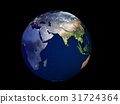 3D Rendering Planet Earth at day to night, globe 31724364