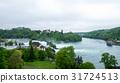 Rheinfall landscape. Schloss Laufen on hill 31724513