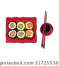 sushi, vector, japanese 31725536