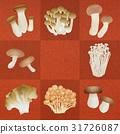 蘑菇 原料 食品 31726087