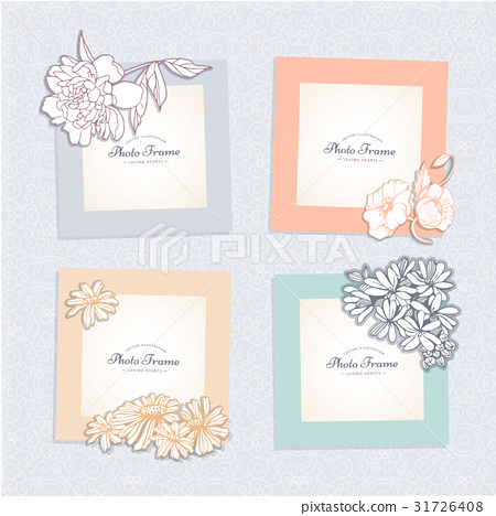 Photo frame with flower. 31726408