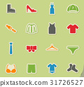 Clothes simply icons 31726527
