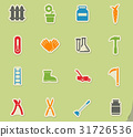 Garden tools simply icons 31726536
