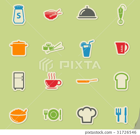 Food and kitchen simply icons 31726546