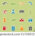 extraction of oil icon set 31726632