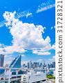 """""""東京都""""白雲和城市景觀""""初夏"""" 31728321"""