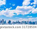 """""""東京都""""白雲和城市景觀""""初夏"""" 31728504"""