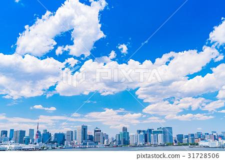 """""""東京都""""白雲和城市景觀""""初夏"""" 31728506"""