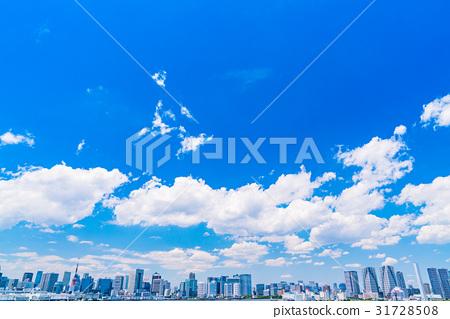 """""""東京都""""白雲和城市景觀""""初夏"""" 31728508"""