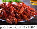 Plate of tasty boiled crayfish 31730026