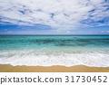 Sea wave with sand beach 31730452