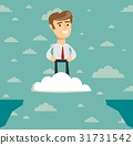 Challenges and success . Businessman Flies over 31731542