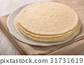 Stack of  wheat flat bread 31731619